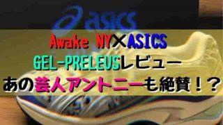 Awake NY×ASICS GEL-PRELEUSレビュー あの芸人アントニーも絶賛!
