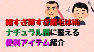 【メンズ】細すぎ薄すぎ眉毛はNG! ナチュラル眉に整える 便利アイテム紹介-2